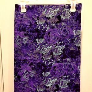 NWT Talbots Purple Black Mint Pencil Skirt Size 20